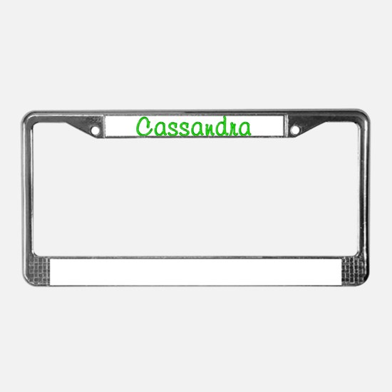 Cassandra Glitter Gel License Plate Frame