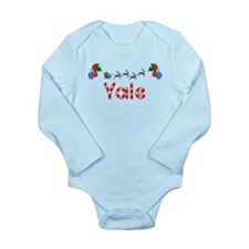 Yale, Christmas Long Sleeve Infant Bodysuit