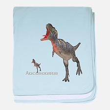 Aucasaurus baby blanket
