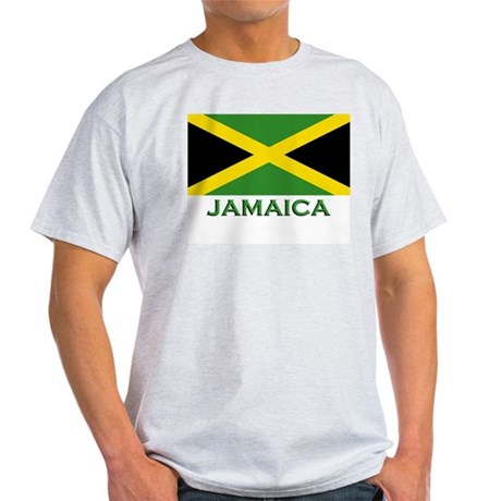 Flag of Jamaica Ash Grey T-Shirt