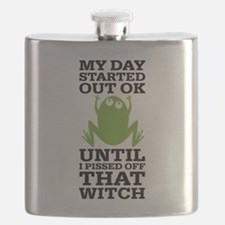 Funny Frog Mean Witch Flask
