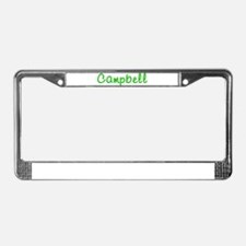 Campbell Glitter Gel License Plate Frame