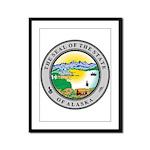 Alaska State seal Framed Panel Print