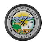 Alaska State seal Large Wall Clock
