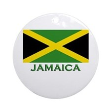 Jamaica Flag Stuff Ornament (Round)