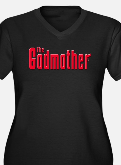 The Godmother Women's Plus Size V-Neck Dark T-Shir
