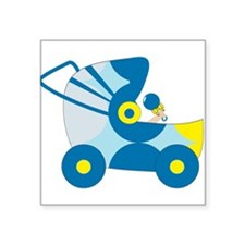 """Baby Carriage Square Sticker 3"""" x 3"""""""