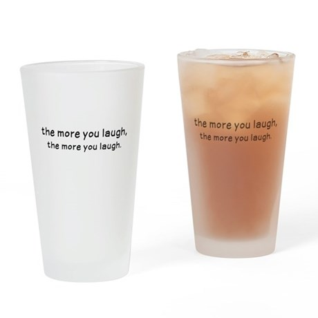 Laughtees - The More You Laugh Black Drinking Glas