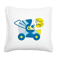Its A Boy Square Canvas Pillow