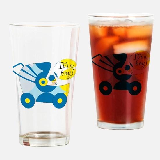 Its A Boy Drinking Glass