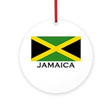 Jamaica Flag Gear Ornament (Round)