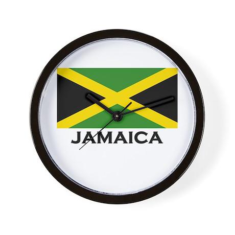 Jamaica Flag Gear Wall Clock