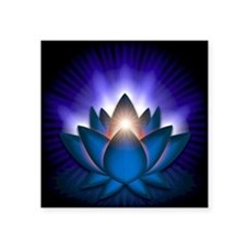 "Blue ""Throat"" Chakra Lotus Sticker"