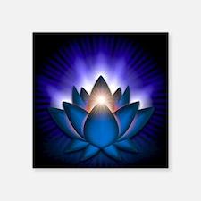 "Blue ""Throat"" Chakra Lotus Sticker"