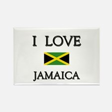 I Love Jamaica Rectangle Magnet