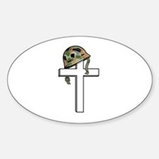 Solidier Remembrance Cross Oval Decal