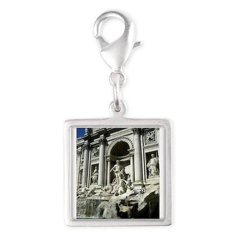 Trevi Fountain 5.jpg Silver Square Charm