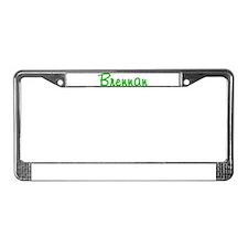Brennan Glitter Gel License Plate Frame