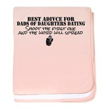 Dad's Dating Advice baby blanket