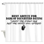 Dad's Dating Advice Shower Curtain