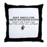 Dad's Dating Advice Throw Pillow