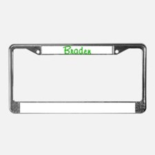 Braden Glitter Gel License Plate Frame