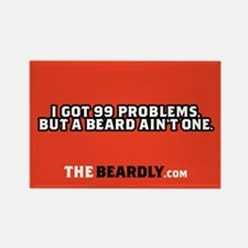 Cute Beard Rectangle Magnet (10 pack)