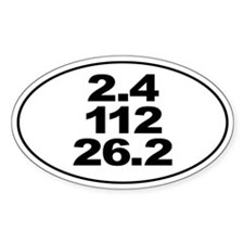 Ironman Triathlon Distances Sticker Decal