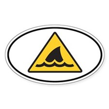 Shark Fin Warning Sign Decal