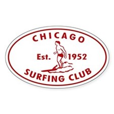 Vintage Chicago Surfing Club Decal