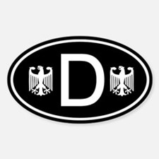 Black D sticker with German Eagles