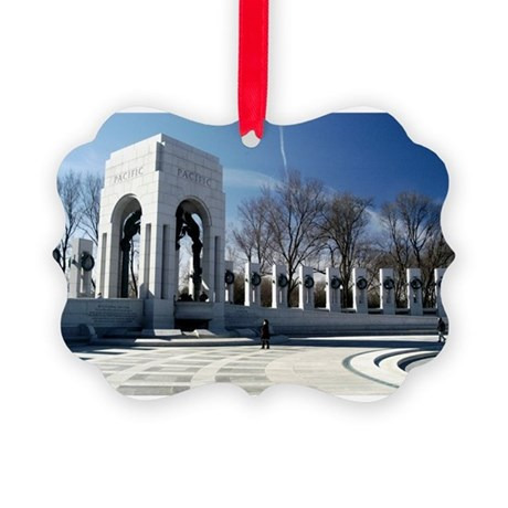 WWII memorial - horizontal.jpg Picture Ornament