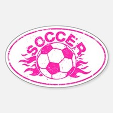 Pink Soccer Flames Decal