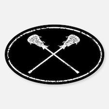 Lacrosse Sticks Sticker (Oval)
