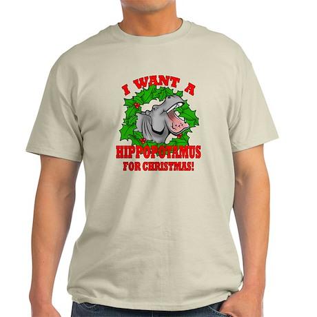 Hippopotamus for Christmas Light T-Shirt