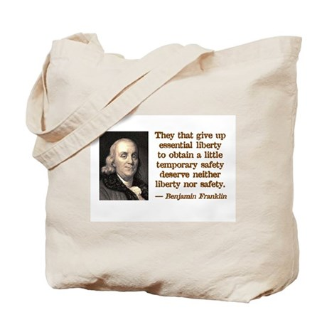 Franklin on Freedom Tote Bag