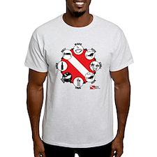 3-Circle-of-Scuba T-Shirt