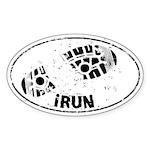 I Run Auto Sticker (Oval)