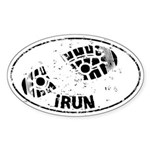 I Run Auto Sticker (Oval)