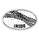 I Ride Auto Sticker (Oval)