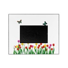 Tulip Flowers and Butterflies Picture Frame