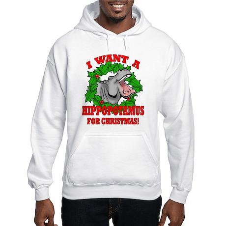 Hippopotamus for Christmas Hooded Sweatshirt