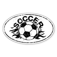 Personalized Soccer Flames Decal