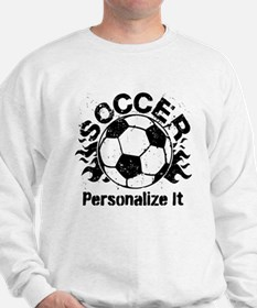 Personalized Soccer Flames Sweatshirt
