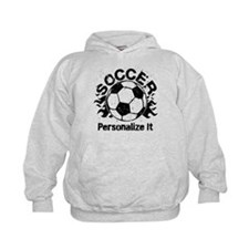 Personalized Soccer Flames Hoody