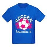 Girls soccer Kids T-shirts (Dark)