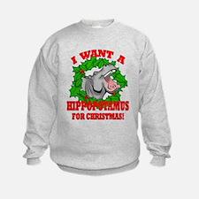 Hippopotamus for Christmas Sweatshirt