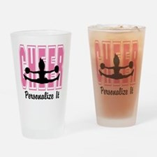 Personalized Cheer Design Drinking Glass