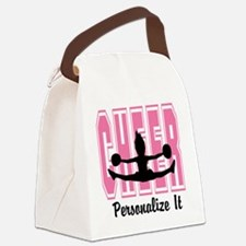 Personalized Cheer Design Canvas Lunch Bag
