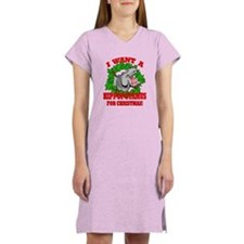 Hippopotamus for Christmas Women's Nightshirt